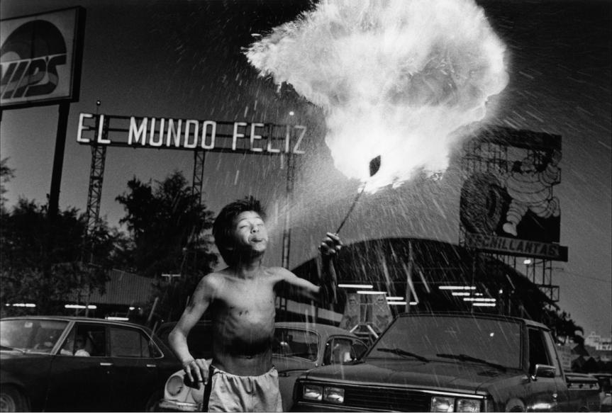Calles de san salvador. El Salvador, 1992.