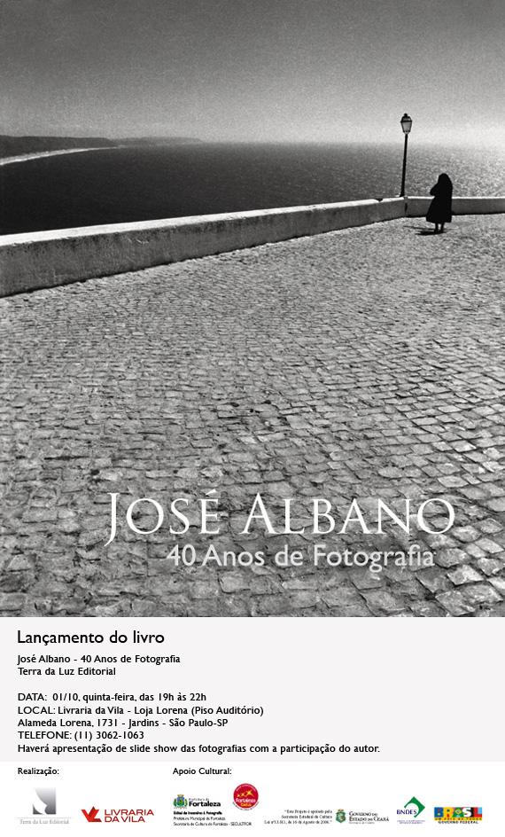 convite_jose_albano_livraria da vila